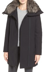Derek Lam Women's 10 Crosby Water Resistant Down Parka With Genuine Fox Fur Collar