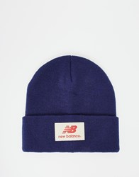 New Balance Troy Beanie Hat Blue