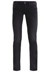 Mavi Jeans Olivia Straight Leg Black Brushed Glam Grey Denim