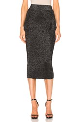 Cushnie Et Ochs Knit Pencil Skirt In Black Gray Metallics Black Gray Metallics
