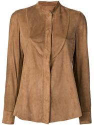 Salvatore Santoro Classic Fitted Jacket Brown