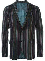 Etro Striped Blazer Multicolour