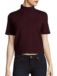 Saks Fifth Avenue Black Solid Short Sleeve Top Black Bleach