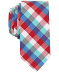 Bar Iii Men's Heywood Check Skinny Tie Only At Macy's Red