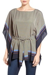Michael Michael Kors Women's Scarf Print Belted Top