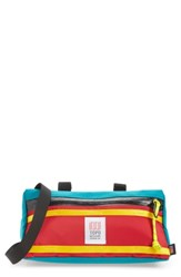 Topo Designs Men's Bike Bag Blue Turquoise Red