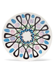 Peter Pilotto Painted Ceramic Plate Blue Multi