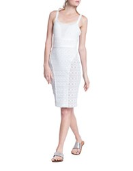 Tracy Reese Semi Sheer Camisole Dress White