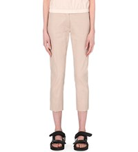 Joseph Compact Cotton Tapered Trousers 807 Cameo