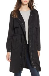 Bb Dakota Women's Tyler Hooded Trench Coat Black