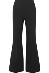 Antonio Berardi Cropped Crepe Flared Pants Black