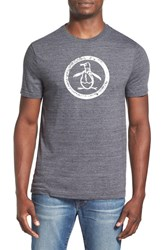 Men's Original Penguin Distressed Logo T Shirt True Black