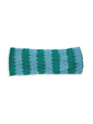 Missoni Colorblock Crochet Headband Blue