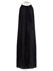 Su Tina Halterneck Open Back Midi Dress Black