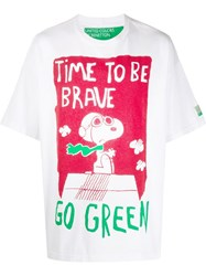 United Colors Of Benetton Oversized Peanuts T Shirt White