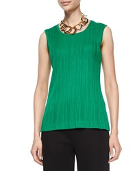 Misook Textured Knit Tank Petite Women's Putting Green