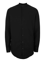 Selected Homme Black Stand Collar Shirt