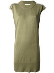 Maison Martin Margiela Mm6 Sleeveless Knitted Tank Green