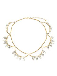 Saks Fifth Avenue Crystal 14K Gold Plated Necklace