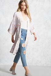 Forever 21 Contrast Floral Kimono