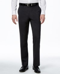 Alfani Men's Traveler Charcoal Solid Classic Fit Pants Only At Macy's