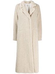Forte Forte Textured Double Breasted Coat Neutrals