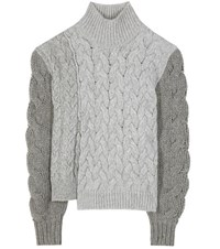 Stella Mccartney Wool And Mohair Blend Sweater Grey