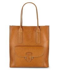 Frye Casey Leather Tote Rust