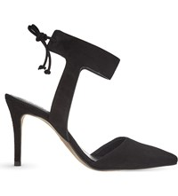 Whistles Vidlin Tied Suede Court Shoes Black