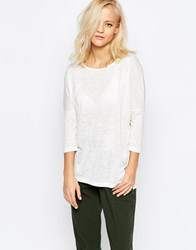 Selected Sahin 3 4 Sleeve Tunic Top In White White