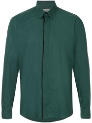 Cerruti 1881 Classic Curved Hem Shirt Green