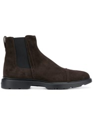 Hogan Ankle Boots Brown