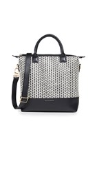 Want Les Essentiels Mini O Hare Tote Deco Raffia Jet Black