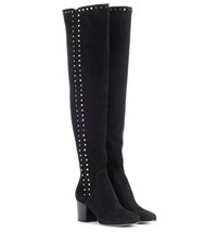 Jimmy Choo Harlem 65 Suede Over The Knee Boots Black