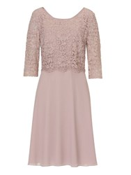 Vera Mont Lace Layered Dress Rose