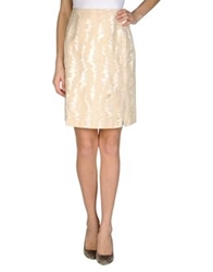 Martine Sitbon Knee Length Skirts Beige