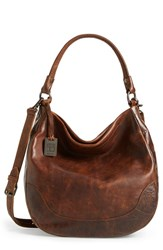 Frye 'Melissa' Washed Leather Hobo Brown