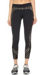 Solow Lace Block Leggings Black