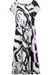 Raoul Bluebell Printed Silk Crepe De Chine Dress Multi