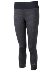 Ronhill Momentum Cropped Running Tights Charcoal Marl