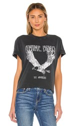 Anine Bing Lili Tee In Black. Washed Black Eagle