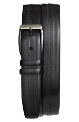 Mezlan Men's 'Diver' Leather Belt Graphite