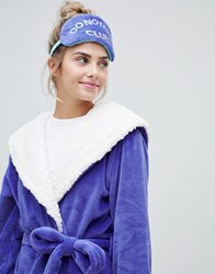 Chelsea Peers Glitter Do Nothing Club Dressing Gown And Eyemask Set Purple