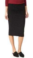 James Perse Shirred Tube Skirt Black