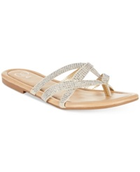 Rampage 143 Girl Primotoo Thong Sandals Women's Shoes Silver