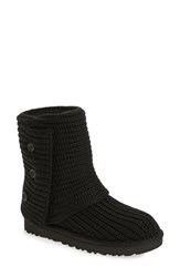 Uggr Women's Ugg 'Classic Cardy Ii' Knit Boot Black Fabric