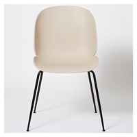 Gubi Beetle Dining Chair Un Upholstered New Beige And Black