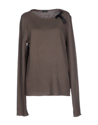 Fred Perry Topwear Sweatshirts Women Dove Grey