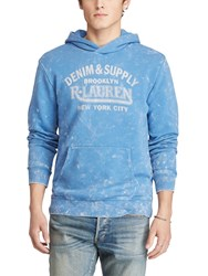 Denim And Supply Ralph Lauren Polo Popover Hoodie Blue Grey
