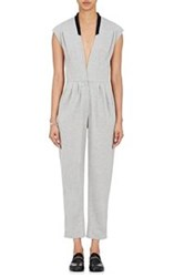 Harvey Faircloth Women's French Terry Sleeveless Jumpsuit Grey